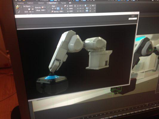 Industrial robot render wip